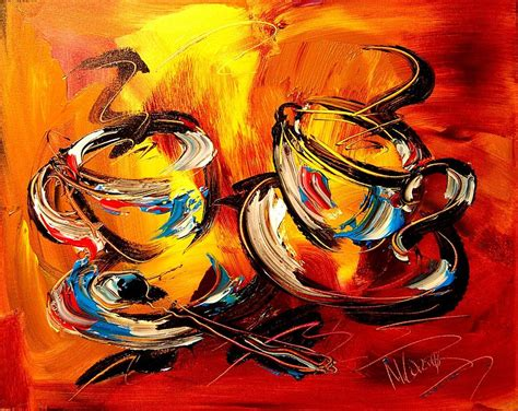 Ready to channel your inner picasso, or maybe it is monet, matisse? Coffee Painting by Mark Kazav