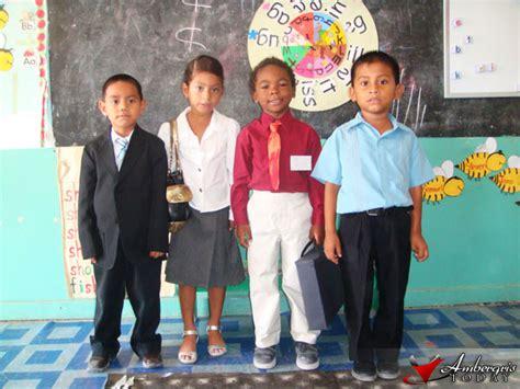 Students Hug Their School Education Week   Ambergris Today   Breaking News Lates News in ...