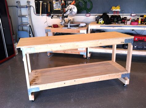 how to make a work table build your own workbench a diy step by step wheel and