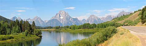 Grand Teton National Park In Wyoming  Panoramic Views