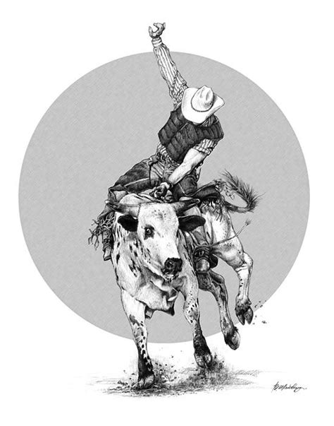 Bull Ridin' by Bob Manthey | Bull tattoos, Tattoo designs, Bull riding