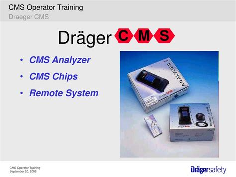 cms training draeger system operator ppt powerpoint presentation analyzer draeger chips remote