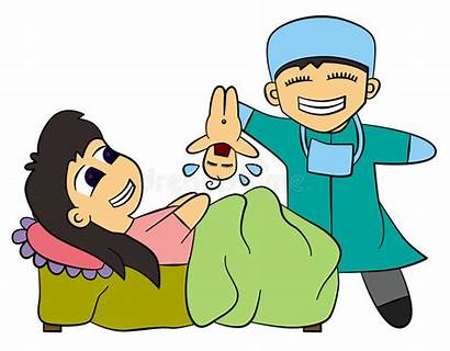 Birth Giving Clipart Cartoon Mother Childbirth Finished