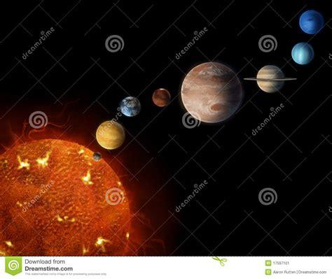 Solar System Planets Illustration Stock