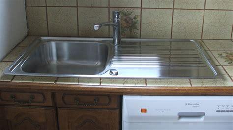 lave vaisselle a poser remplacer et poser un 233 vier en inox