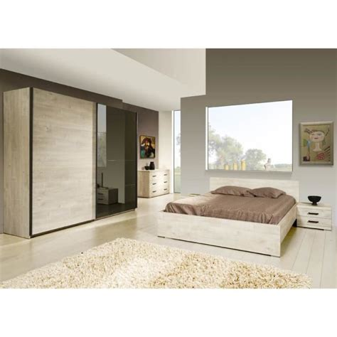 cdiscount chambre a coucher adulte chambre 224 coucher adulte compl 232 te berlin ii achat