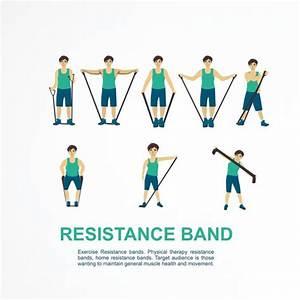 Create A Cartoon Like Resistance Band Exercise Instruction