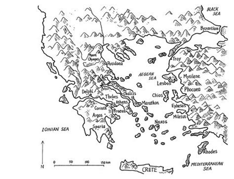 map  ancient greek city states ancient greece