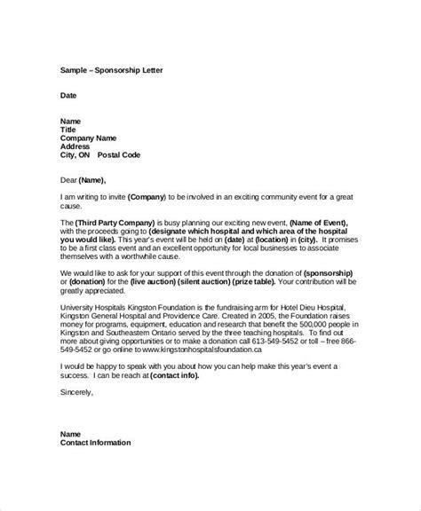 sample event sponsorship letter documents  word