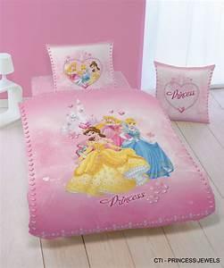 Housse De Couette Petite Fille : housse de couett disney princesse 140 x 200 cm parure ~ Melissatoandfro.com Idées de Décoration