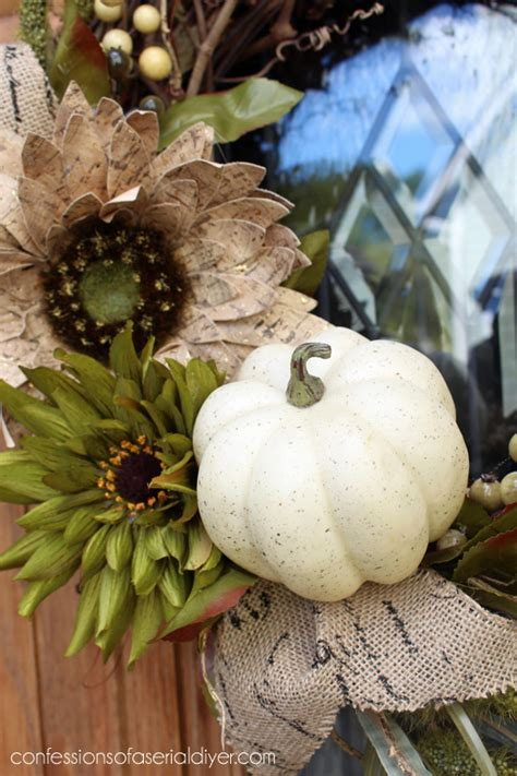 Hometalk  New Fall Wreath For Chic Front Door
