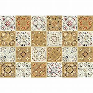 Stickers Carreaux De Ciment : 24 stickers carreaux de ciment azulejos bonifacio ~ Melissatoandfro.com Idées de Décoration