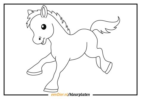 Paarden Kleurplaat Printen by Kleurplaat Paard Gratis Paarden Kleurplaten