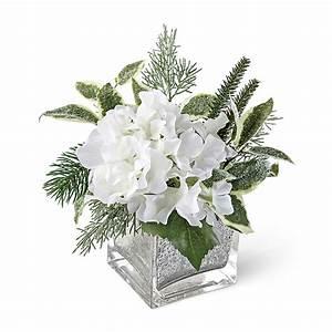 Winter White Hydrangea In Mercury Vase | Gump's