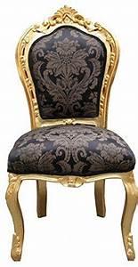Chaise Baroque Noir : chaise baroque noir dor motif sans accoudoirs casa padrino ~ Teatrodelosmanantiales.com Idées de Décoration
