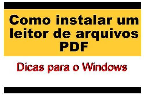 baixar e instalar adobe pdf gratis
