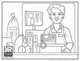 Clerk Coloring sketch template