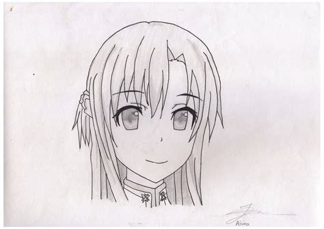 anime drawing asuna sword art   aesges  deviantart