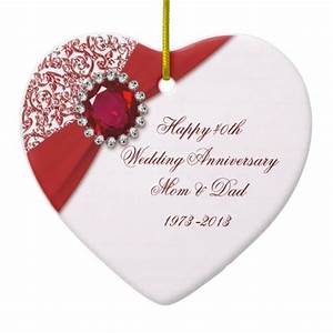 40th Wedding Anniversary Ornament | Zazzle.com