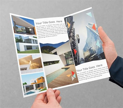 architecture brochures  psd ai indesign