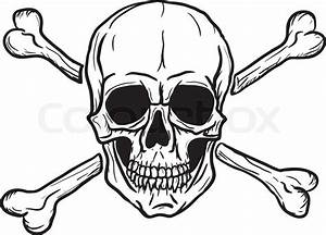 Skull And Crossbones Isolated Over