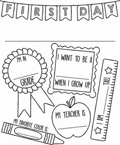 Coloring Pages Crayola Sign Kindergarten Preschool Activities