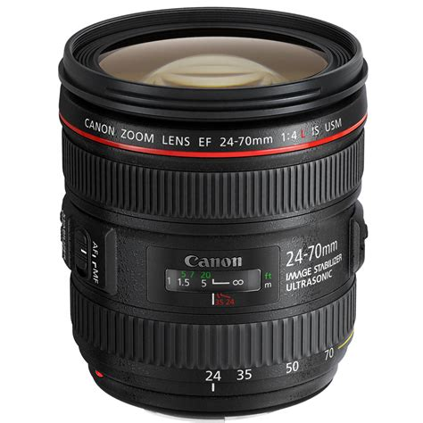 canon ef 24 70mm f 4l is usm lens 6313b002 b h photo