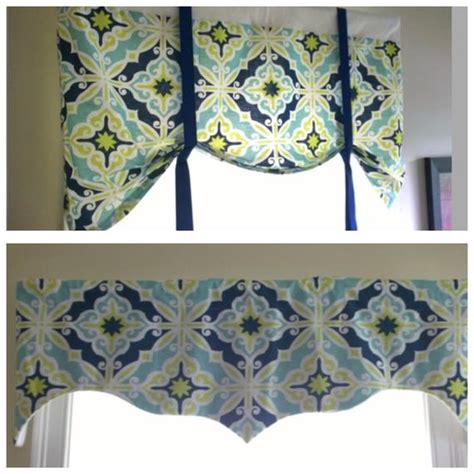 Blue Green Valance by Blue Tie Up Valance Lined Tie Up Valanceblue Navy Green