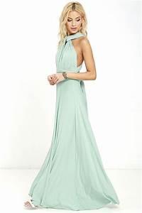 Tricks Of The Trade Light Sage Maxi Dress