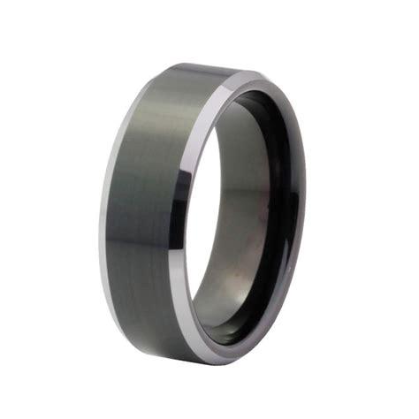 s wedding band tungsten carbide 8mm comfort fit black
