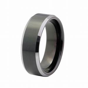 men39s wedding band tungsten carbide 8mm comfort fit black With mens wedding rings comfort fit