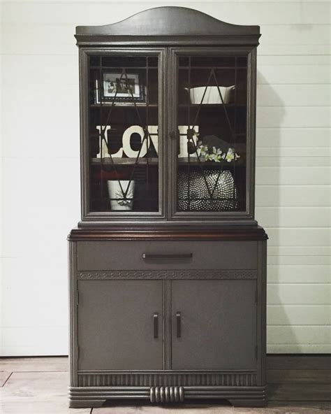 grey china cabinet china cabinet in queenstown gray general finishes design