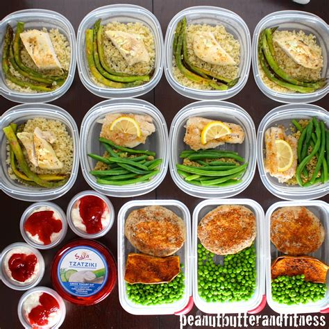 cuisine fitness meal prep ideas week of february 2nd peanut butter and