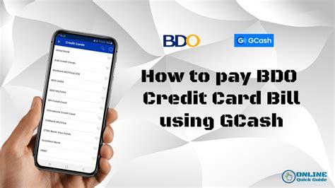 Pay bdo credit card using gcash. How to Pay BDO Credit Card using GCash - YouTube