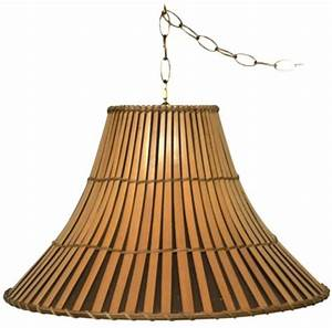"""Bamboo Swag Lamps 16-20"""" Wide Lamp Shade Pro"""