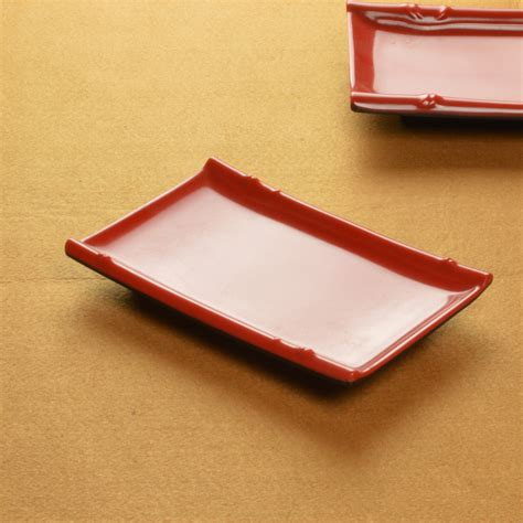 rectangular dinnerware free shipping quality japanese style sushi plate tableware cabob lobster plate plastic