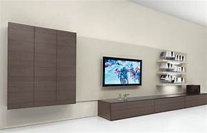 Fabulous design ideas of home living room with big tv on for Modern cabinets for living room
