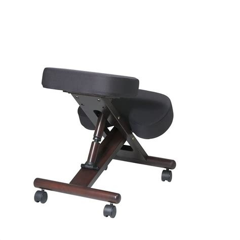 ergonomic wood knee office chair in espresso kcw778