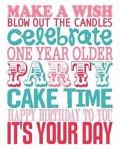 Make a wish | blow out the candles | celebrate | one year ...