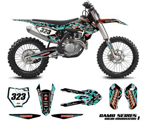 camo motocross ktm graphics kit camo omx graphics