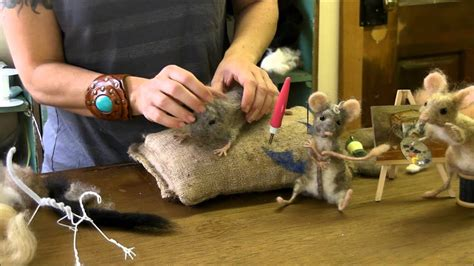 needle felt mouse series  eyes  ears youtube
