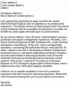 cover letter for structural engineer position - chemical engineering covering letter sample