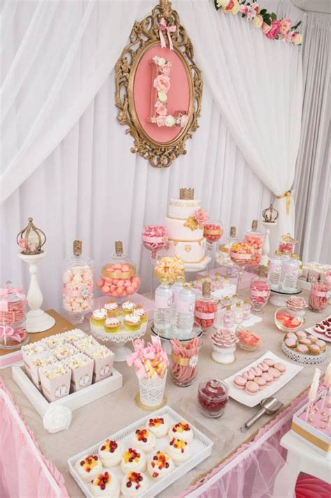 Pink White And Gold Birthday Decorations by Pink Gold Princess Birthday