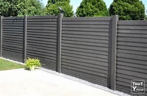 Dalle De Jardin Beton : cloture dalle beton jardin corr ze ~ Melissatoandfro.com Idées de Décoration