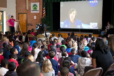 cloverly students skype  nasa astronaut montgomery