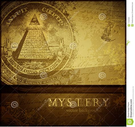 Mystery Background Stock Vector Image Of Engraving, Brown
