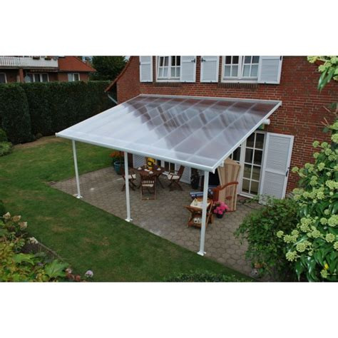 palram 13x28 feria patio cover kit white hg9228