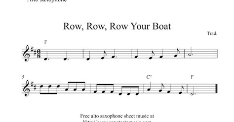 Row Your Boat Piano Sheet Music by Free Easy Alto Saxophone Sheet Music Row Row Row Your Boat