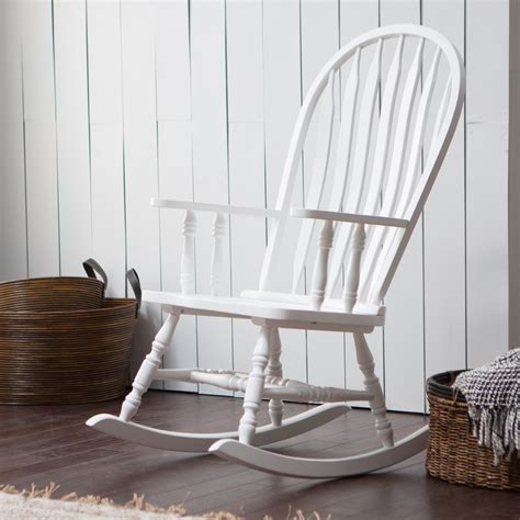 belham living indoor wood rocking chair white
