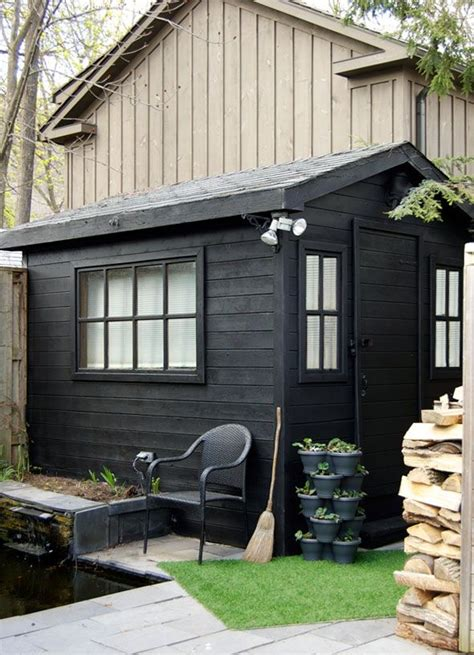 shed colors potting shed before and after house exterior black